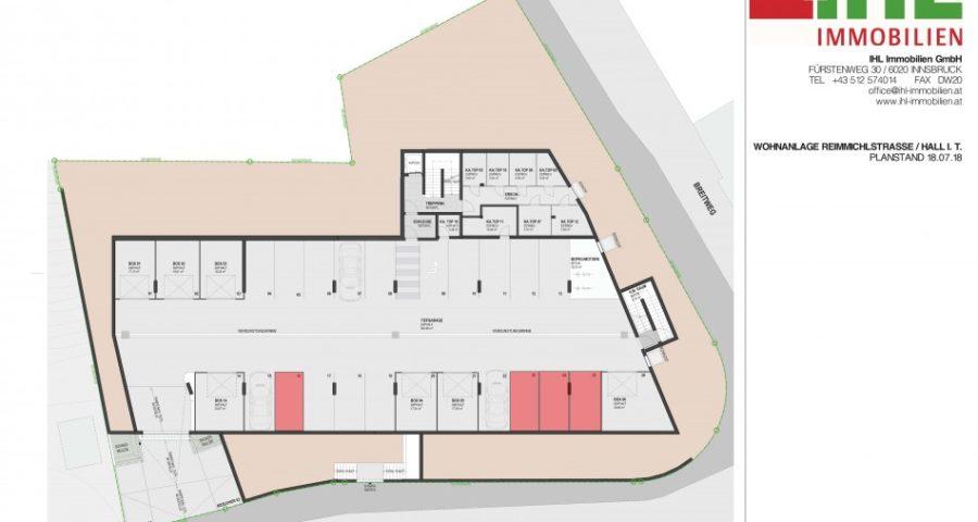 Tiefgaragenparkplätze in sehr zentraler Lage zu vermieten